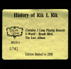 Box Set: History Of Rik L Rik
